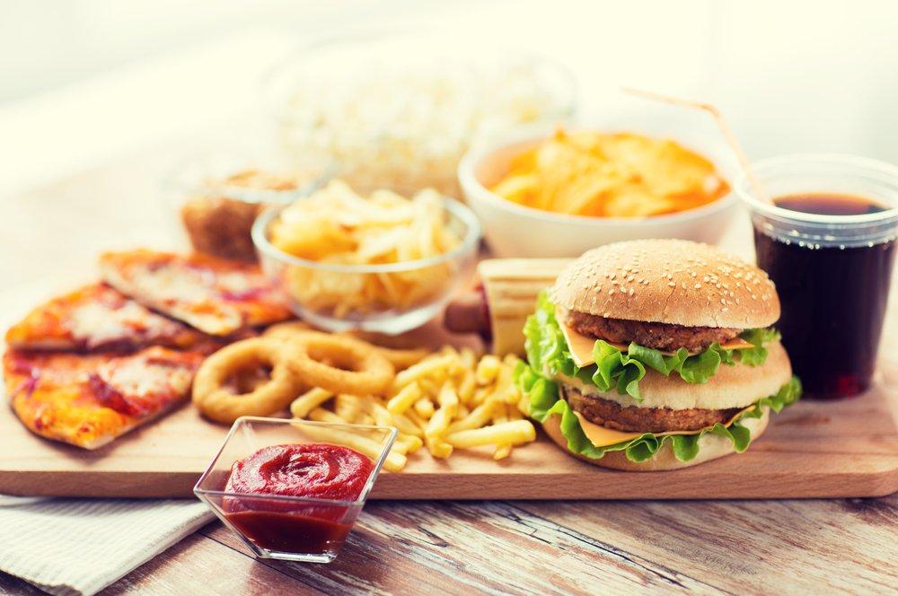 comida rápida dañina para el colon