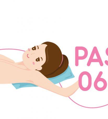 Ilustración paso a paso para hacer el autoexamen de seno