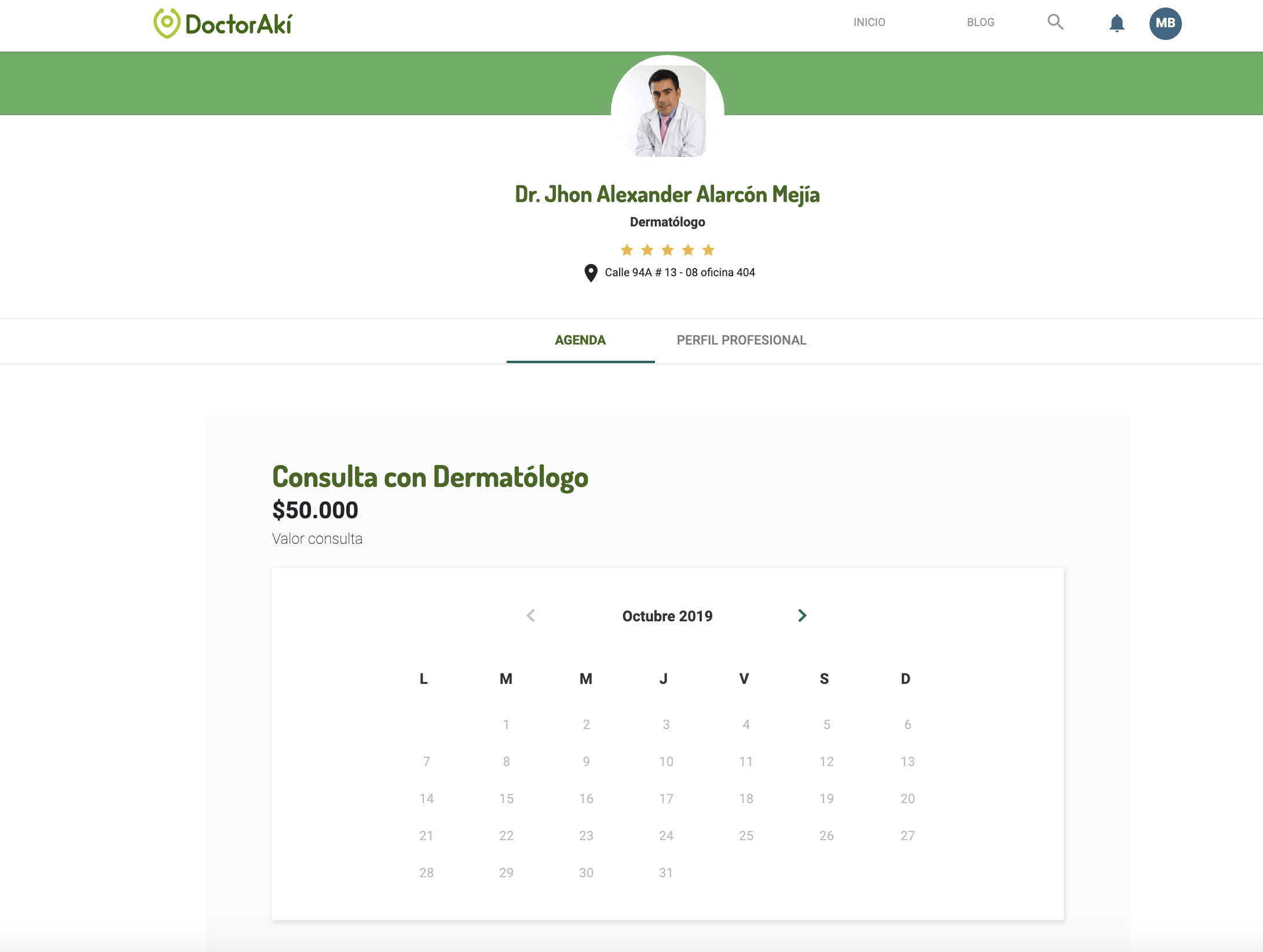Agenda medicos DoctorAki