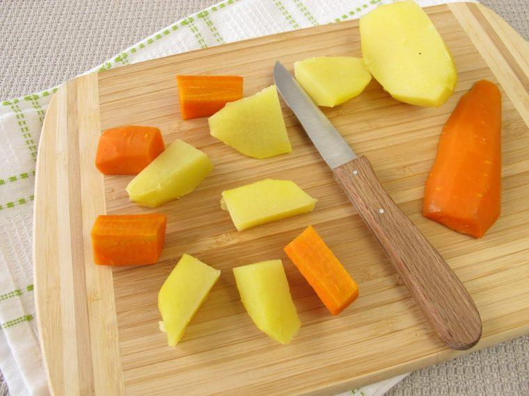Zanahoria y papa cocida