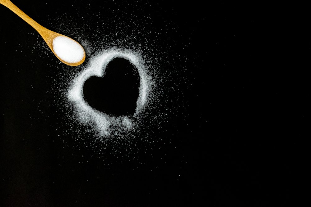 Sal formando un corazón