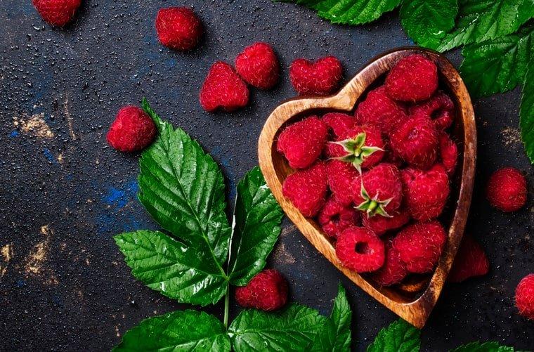 Plato con fresas