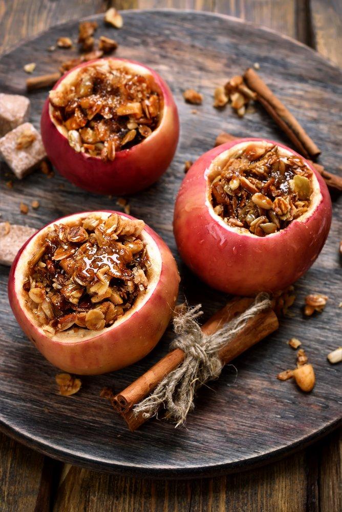 Receta de manzanas rellenas
