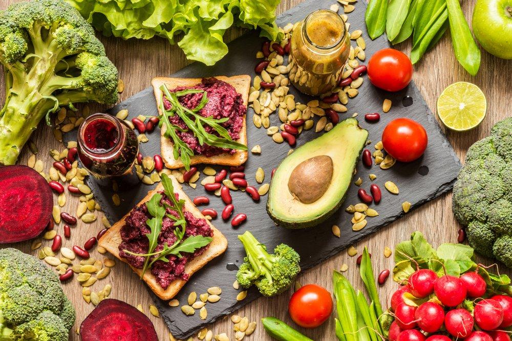 alimentos de una dieta vegana
