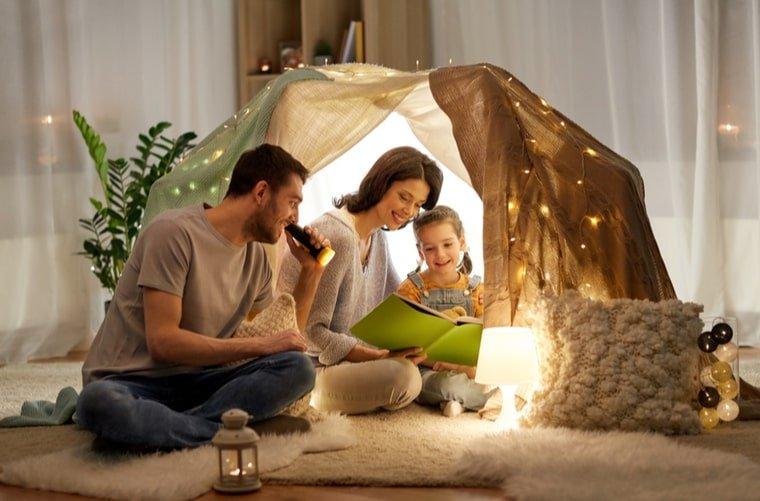 campamento en casa dia del niño