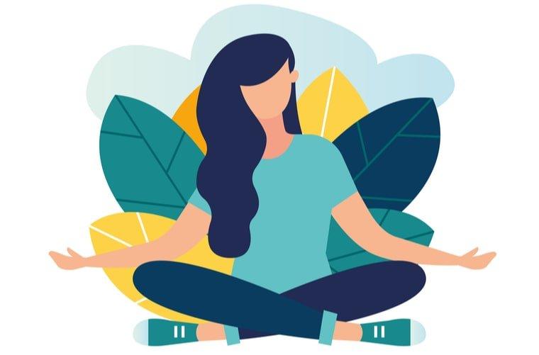 Ilustración de mindfulness para manejar el estrés