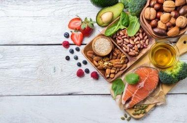 Concepto alimentos nutritivos
