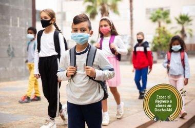 Regreso a clases en pandemia niños parche¡