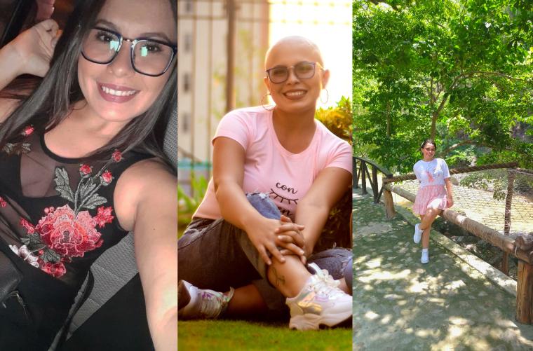 Katheryne Palencia Quintero, sobreviviente de cáncer de mama hormonal.
