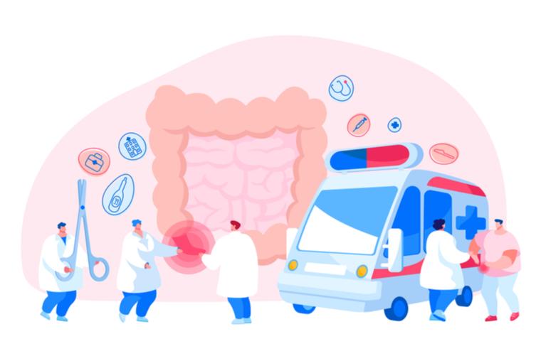 Appendicitis Concepto de enfermedad. Apéndice Dolor