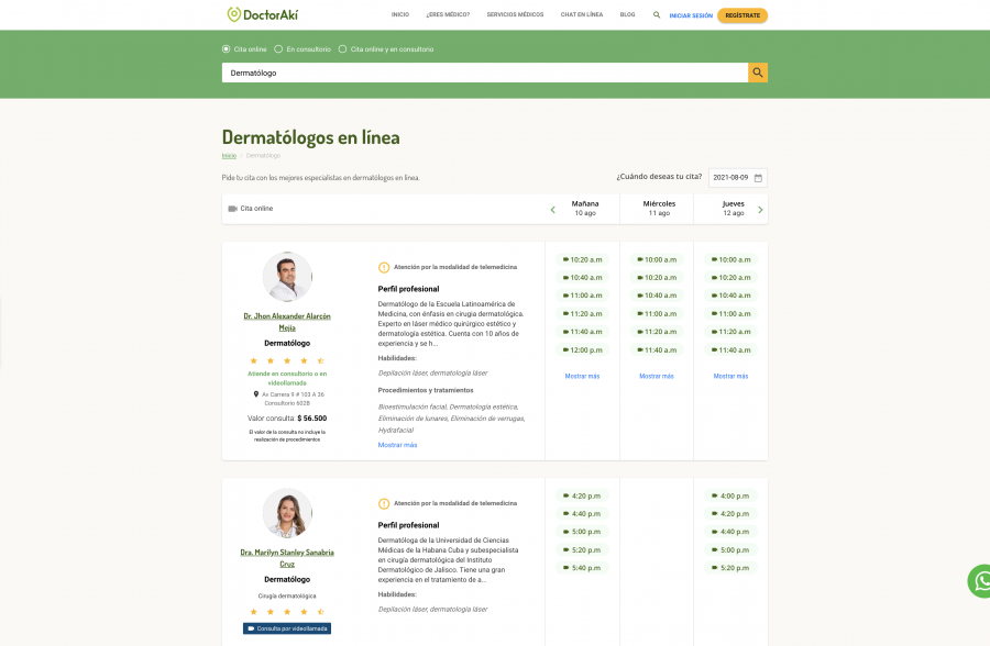 Dermaólogos en doctoraki