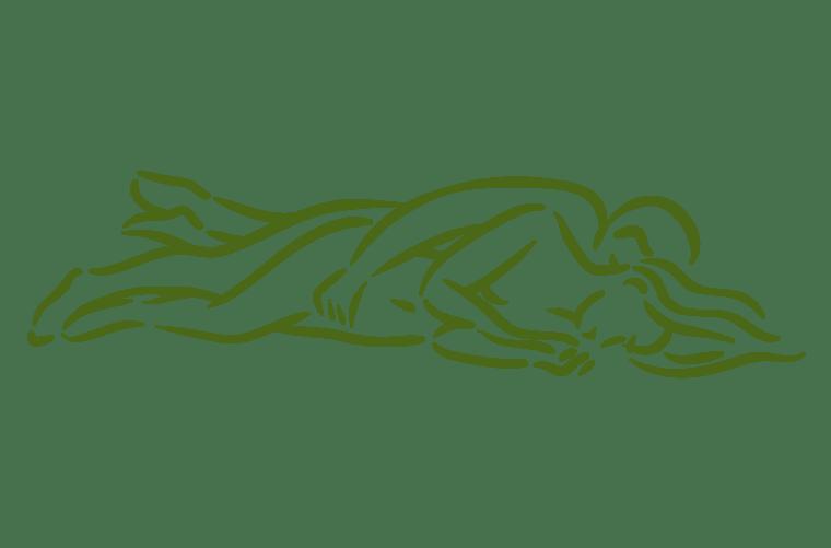Ilustración de la posición sexual la cucharita